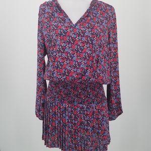 Gap floral dress with pleated bottom elastic waist